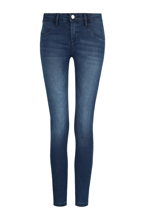 Blue Low Waist Push-Up Jeans