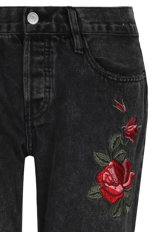 Rose Destroyed Boyfriend Jeans