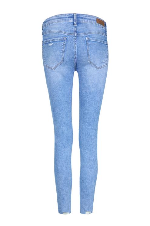 Hellblaue Low-Waist Jeans