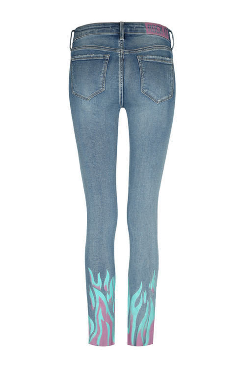 Skinny Jeans with Flames