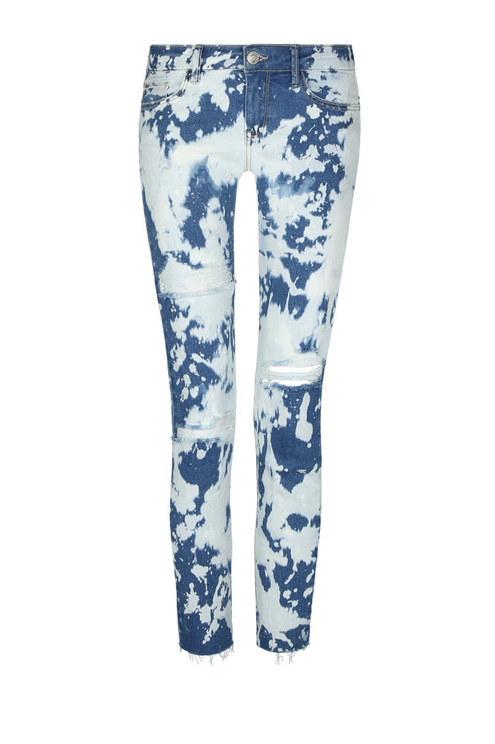 Acid Wash Low Waist Jeans