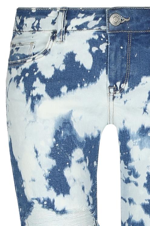 Acid Wash Low Waist Jeans