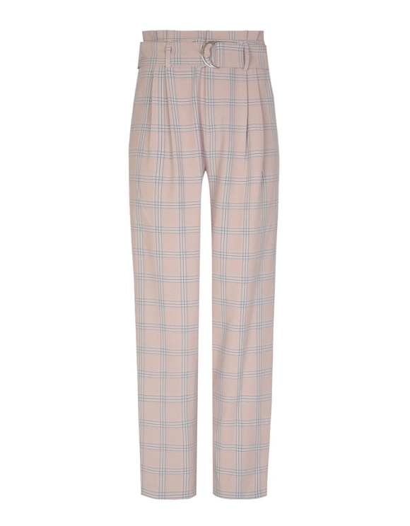 Pink Checked Trousers
