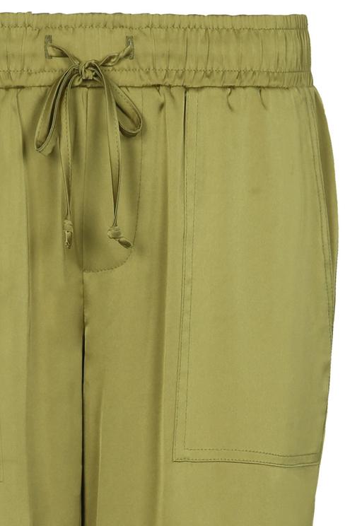 Green Sateen Trousers