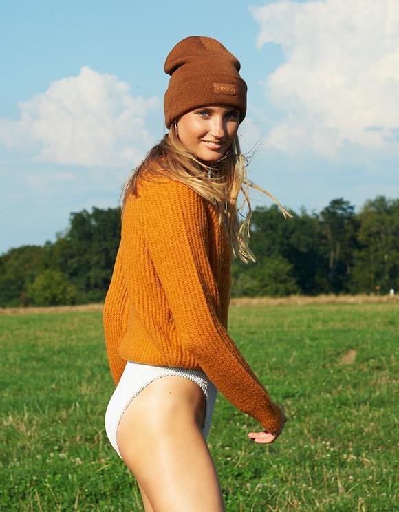Orange Raglan Jumper