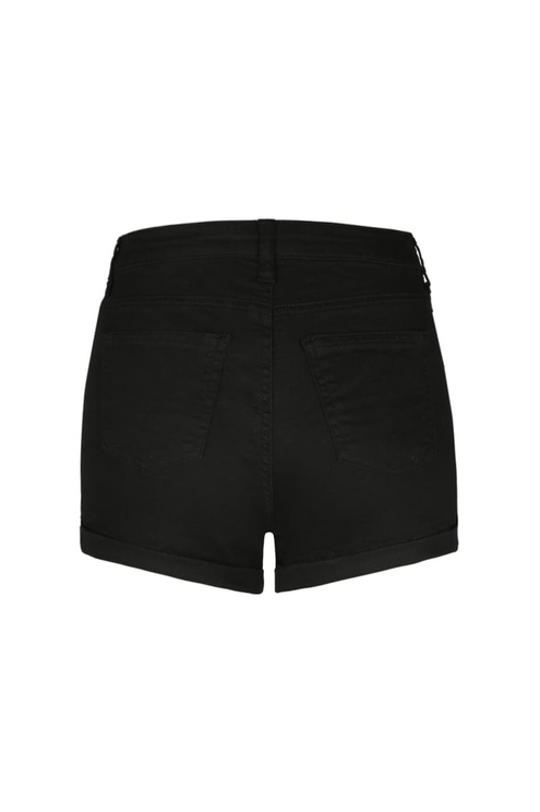 Black High Waist Shorts