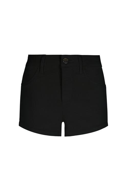 Mini Short Noir Taille Haute