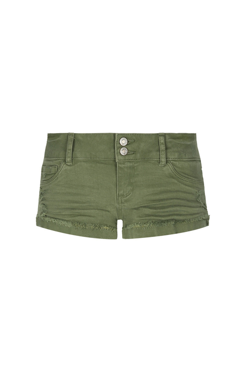 Short Vert à Taille Basse
