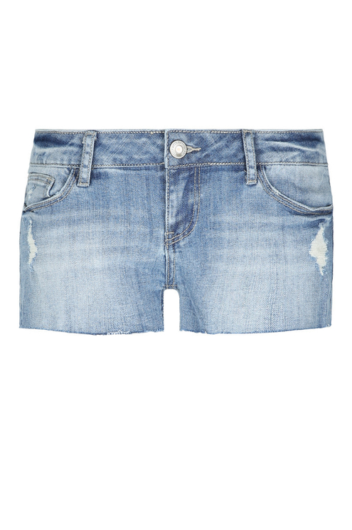 Blaue Jeans-Shorts