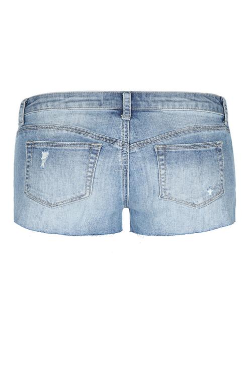 Jeansowe szorty z wytarciami