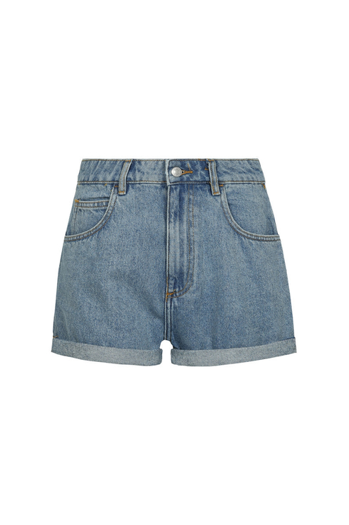 Lightwash Blue Denim Shorts