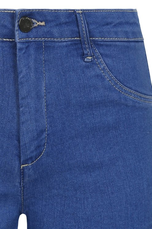 Kräftig-blaue Push-Up Denim Shorts