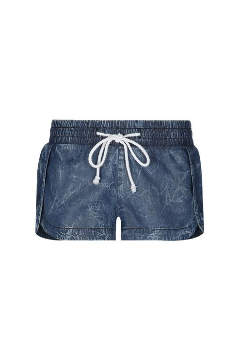 Blue Acid Wash Shorts