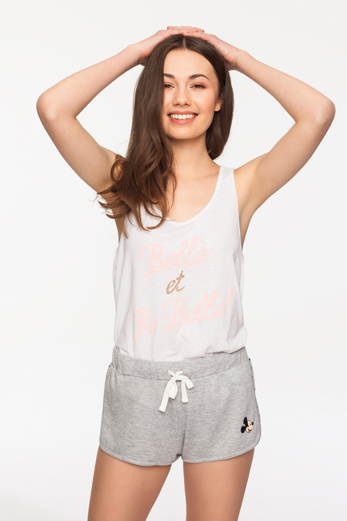 Grey Mickey Mouse Short