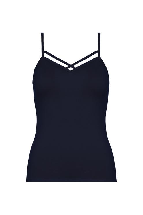 Blaues Träger Top