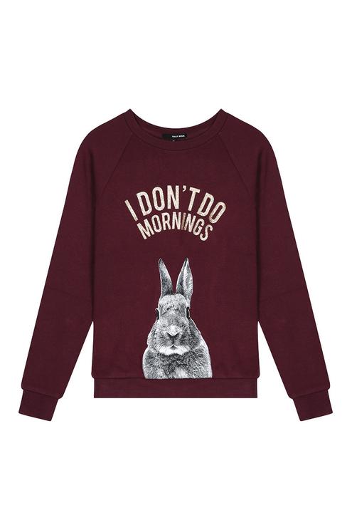 Burgundy Printed Sweatshirt