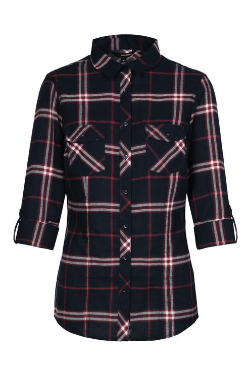 Dark Blue Check Shirt