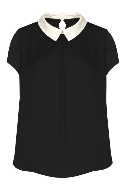 Black Sateen Blouse