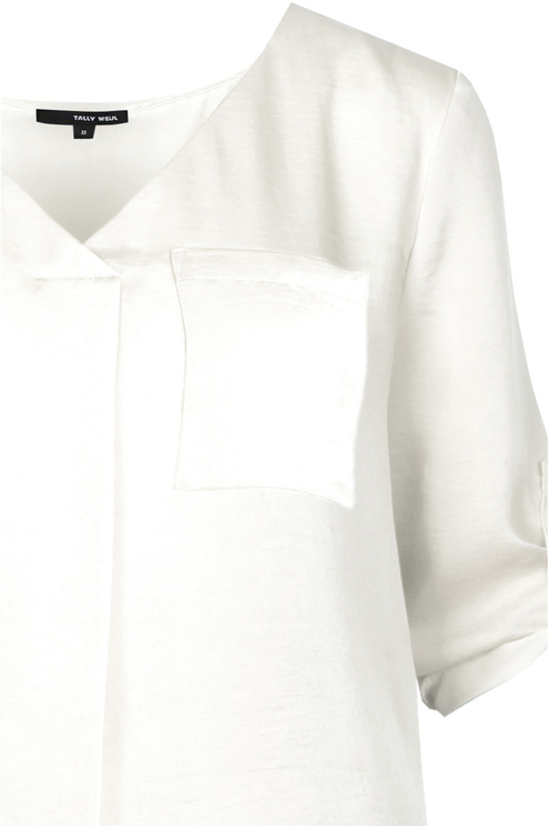 White Sateen Blouse