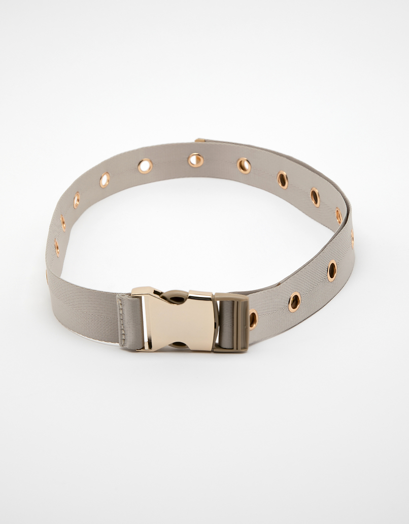 Beige Safety Buckle-Style Belt