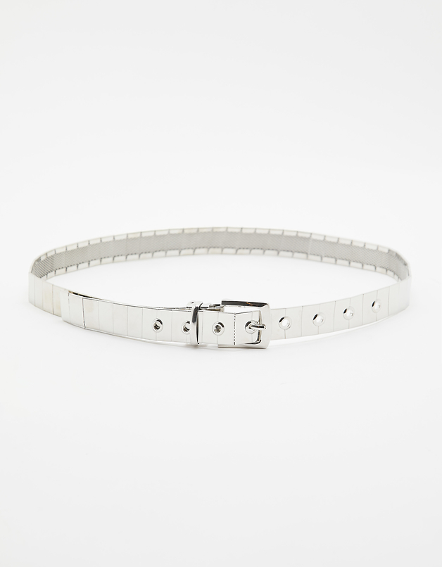 Silver Belt with Eyelets