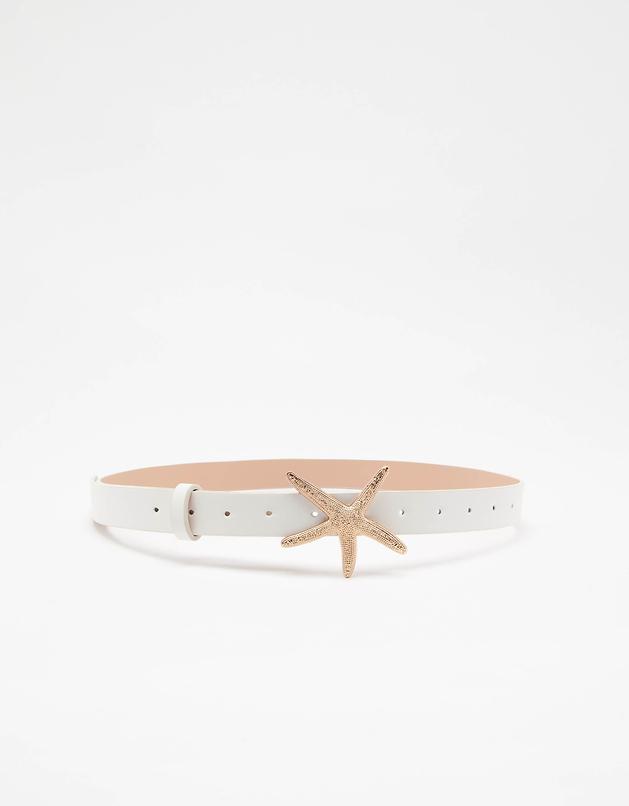 White Belt with Starfish Buckle