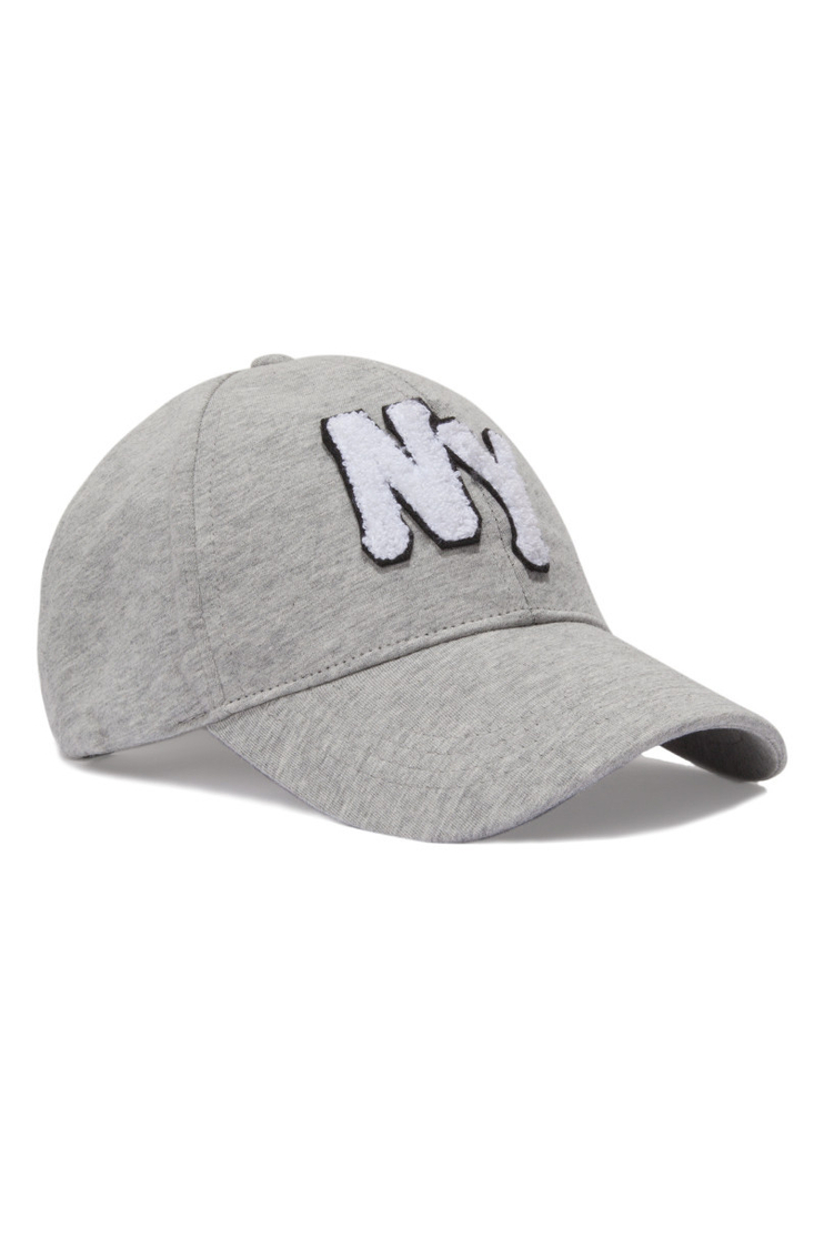 Graue Mütze mit Slogan