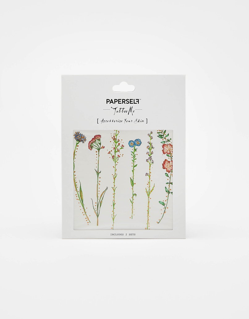 """""""Paperself"""" Flowers Temporary Tattoo"""