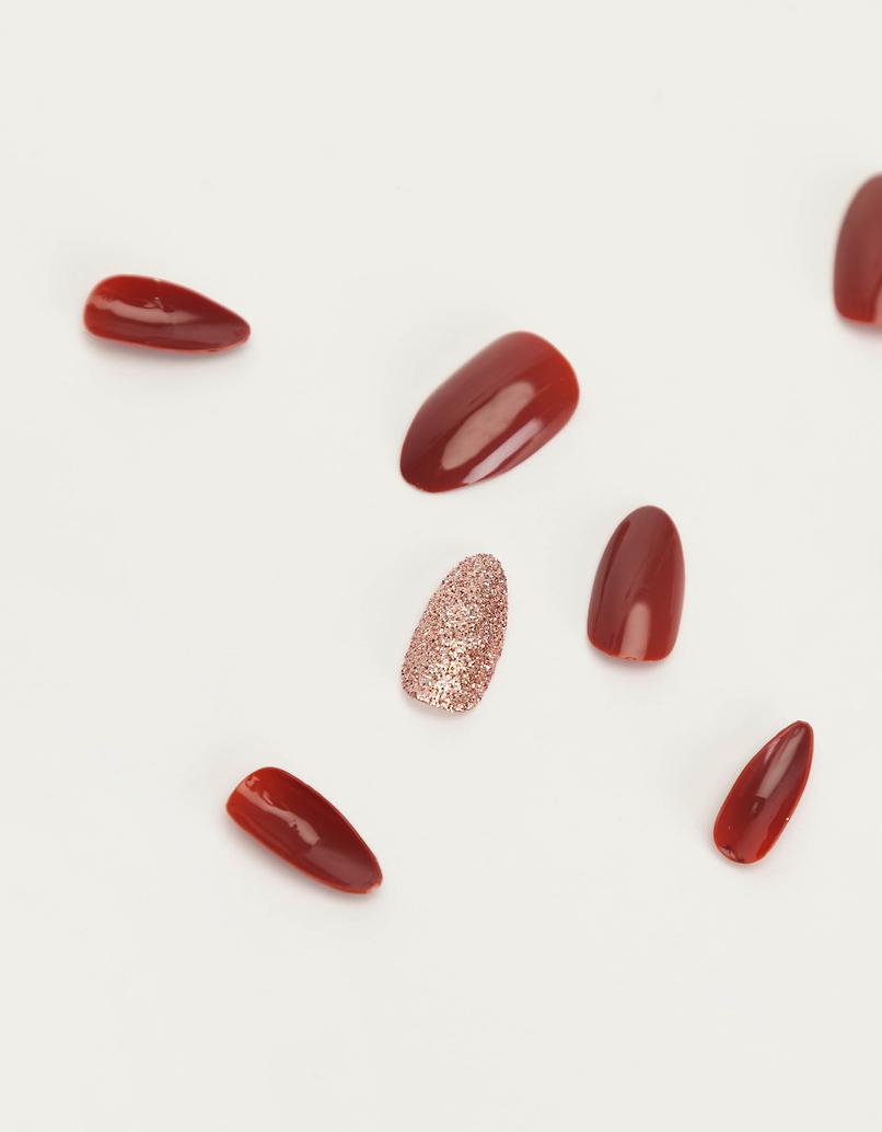 Burgundy Press-on Nails