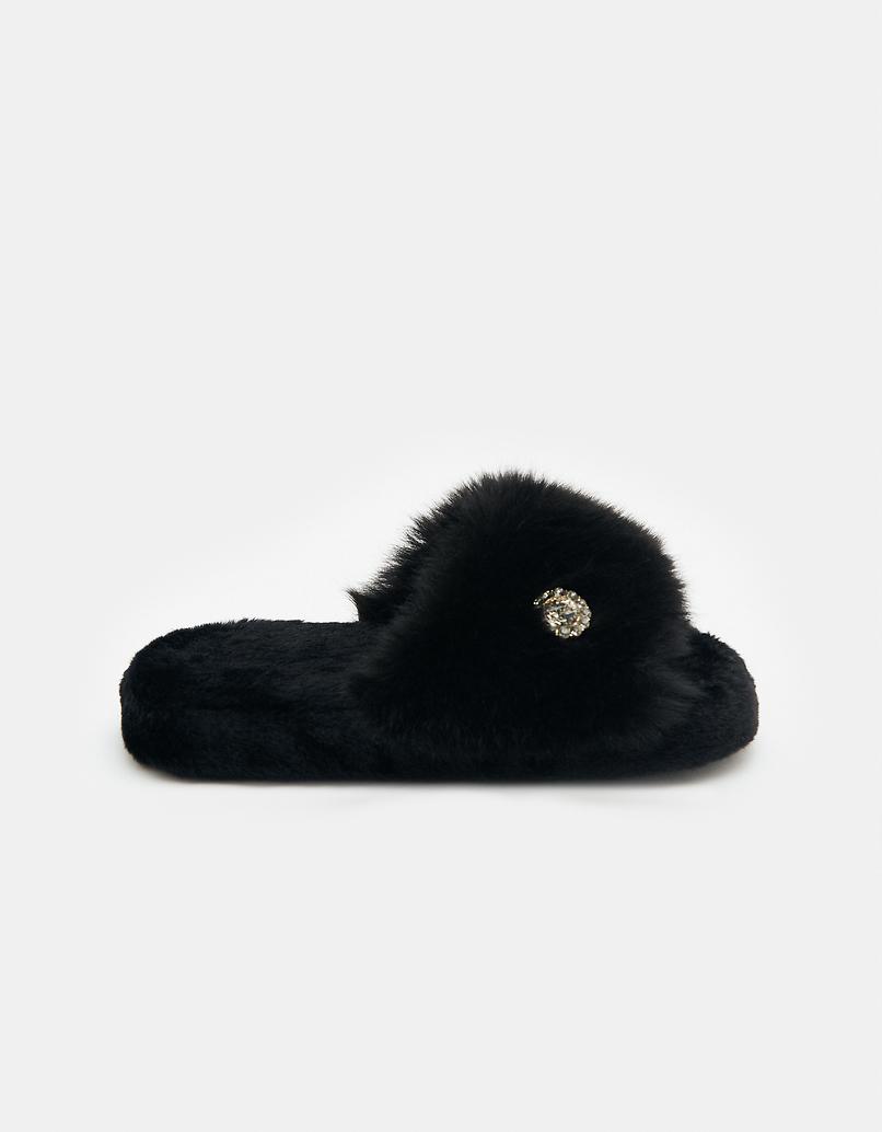Black Fluffy Sliders