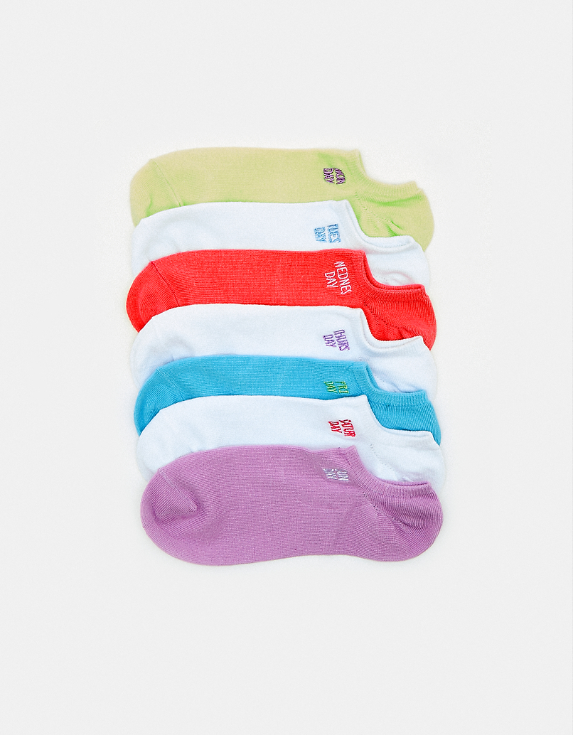 7 Pack Printed Socks