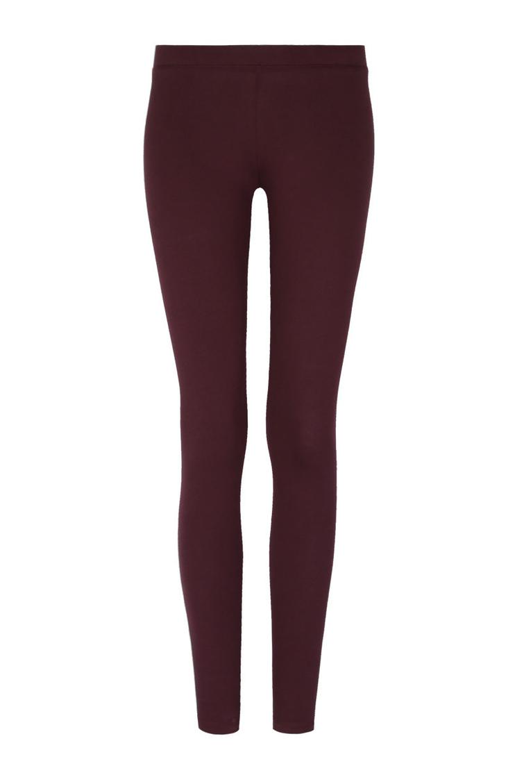 Burgundy Stretch Leggings