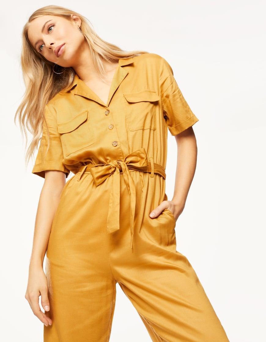 Yellow Cargo Jumpsuit