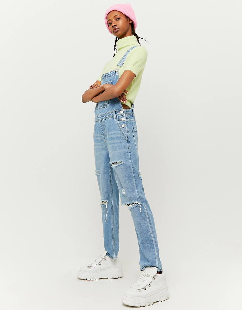 Straight Leg Denim Dungarees