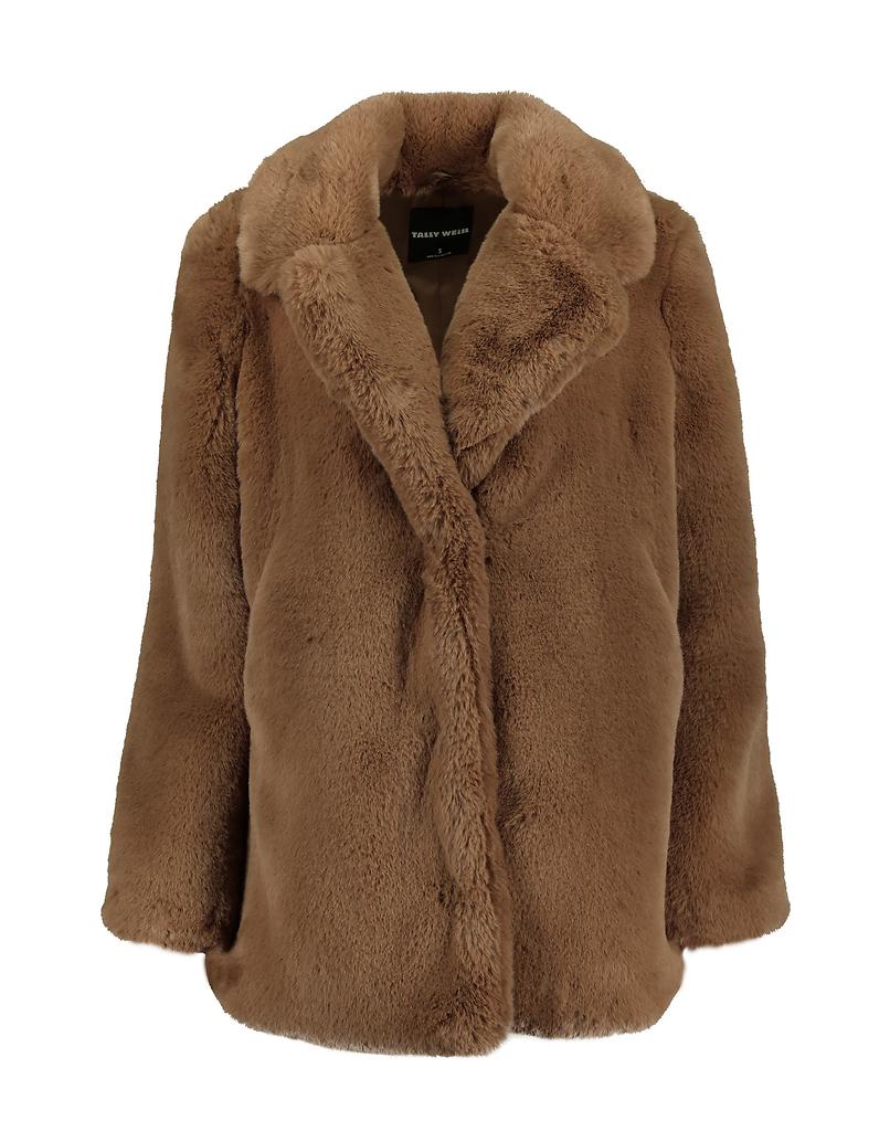 Brown Faux Fur Coat