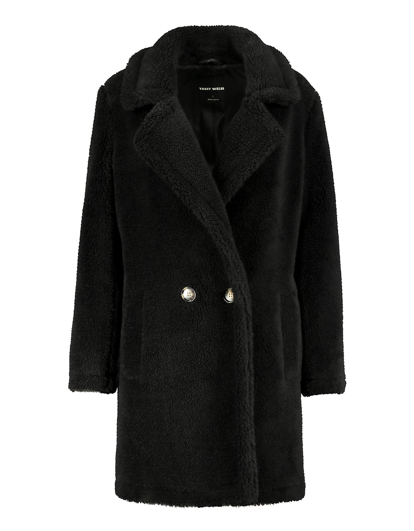 Manteau Noir Teddy