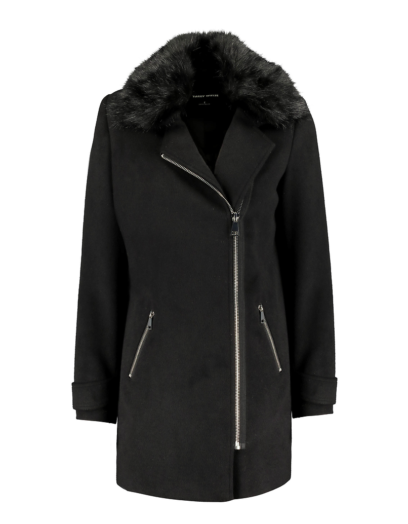 Black Side Closure Coat