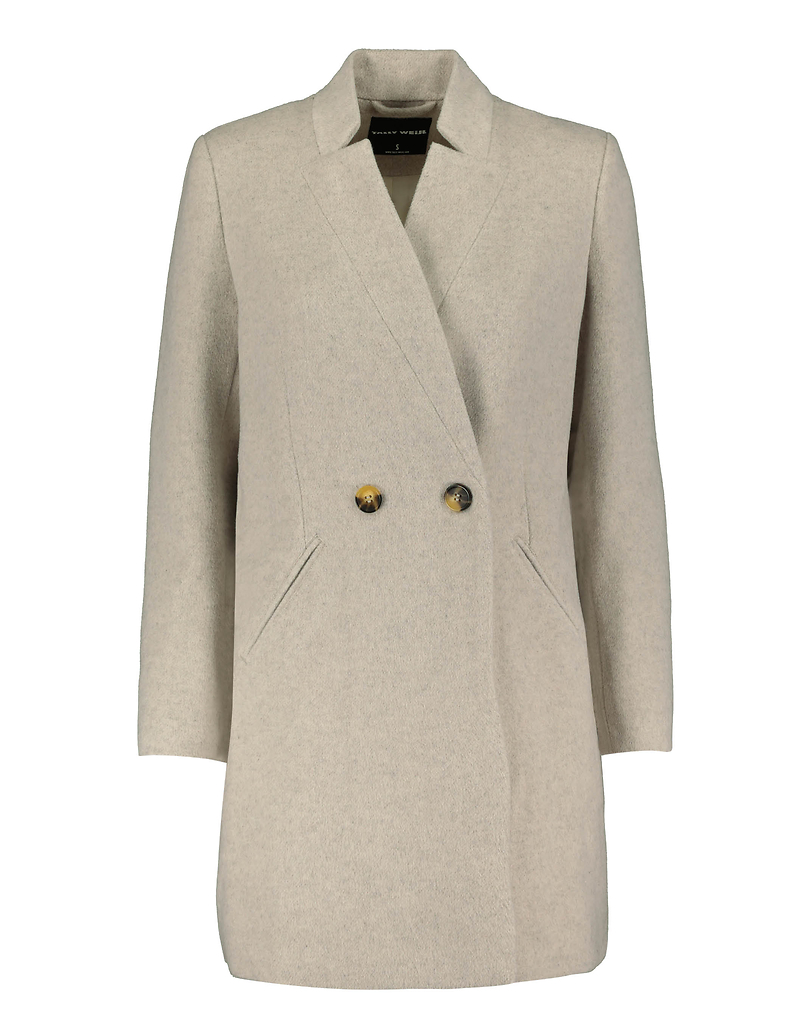 Manteau Taupe Clair à Boutons