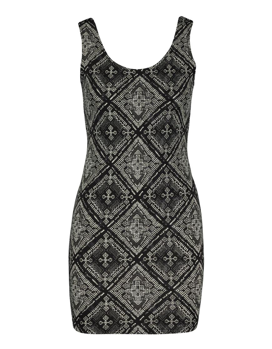 Black Printed Dress