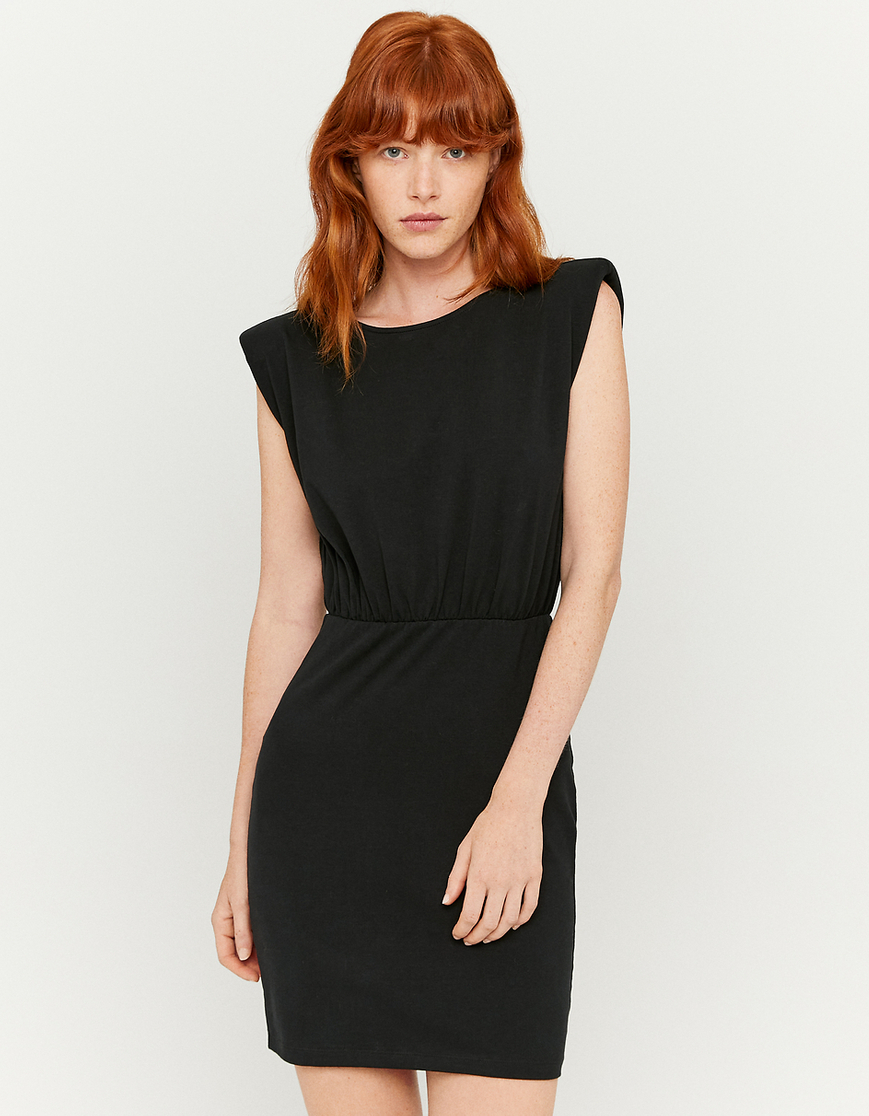 Padded Shoulder Dress