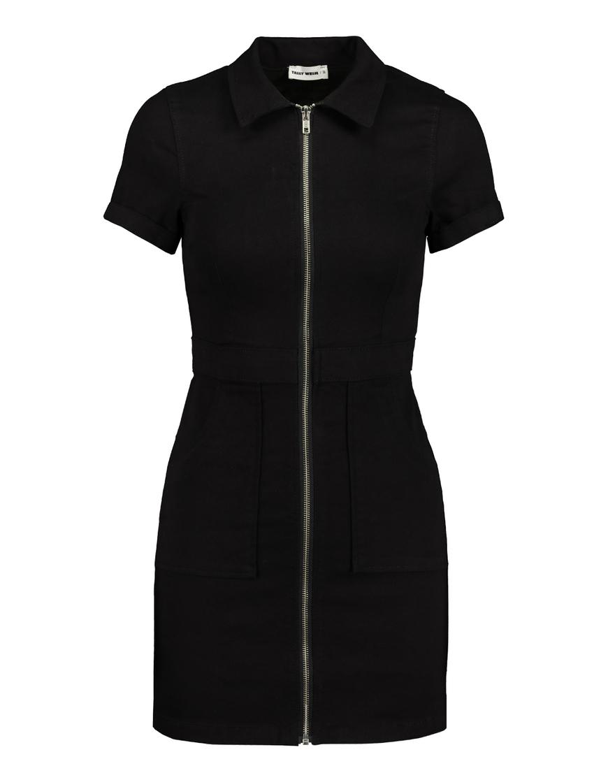 Black Bodycon Short Sleeve Dress