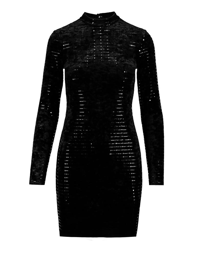 Robe Noire en Velours Dos Ouvert