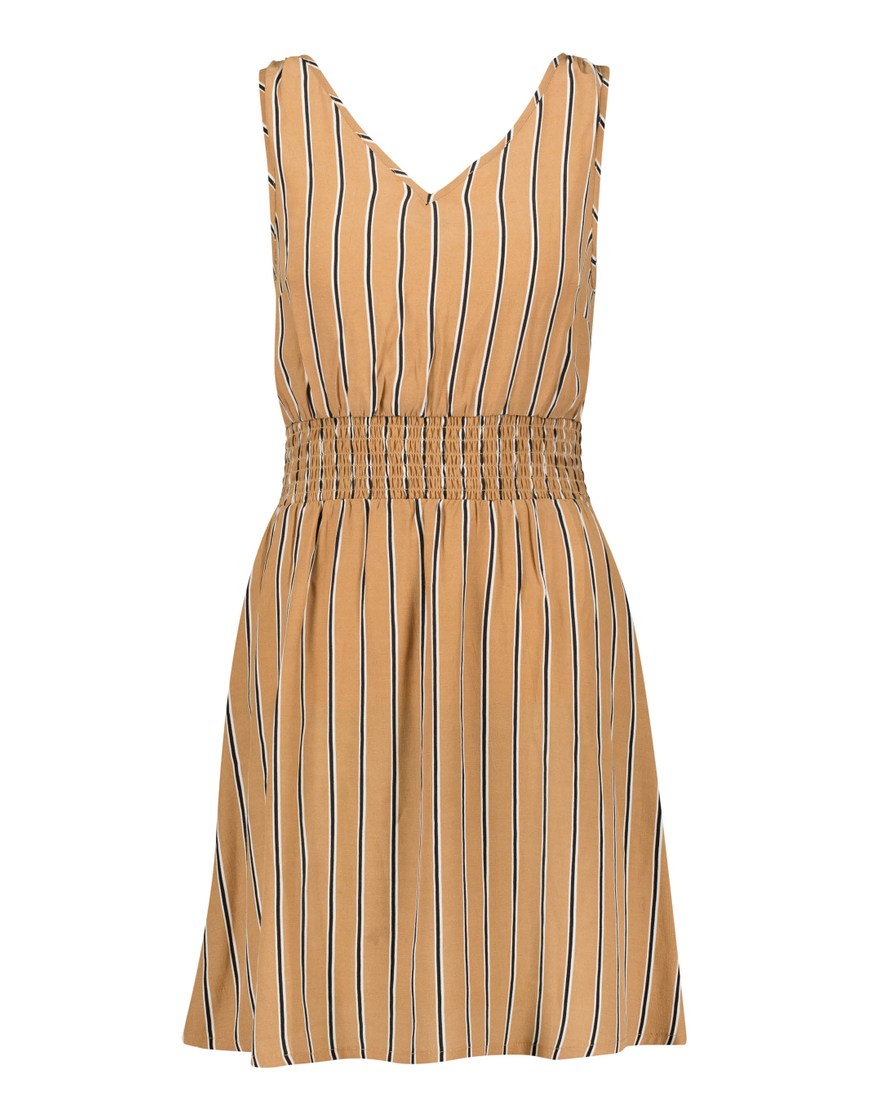 Beige Striped Dress