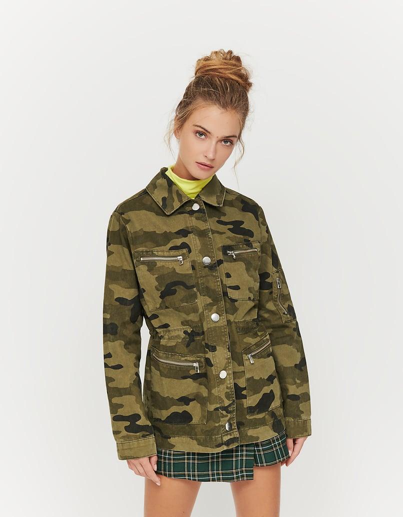 Veste Utilitaire Motif Camouflage