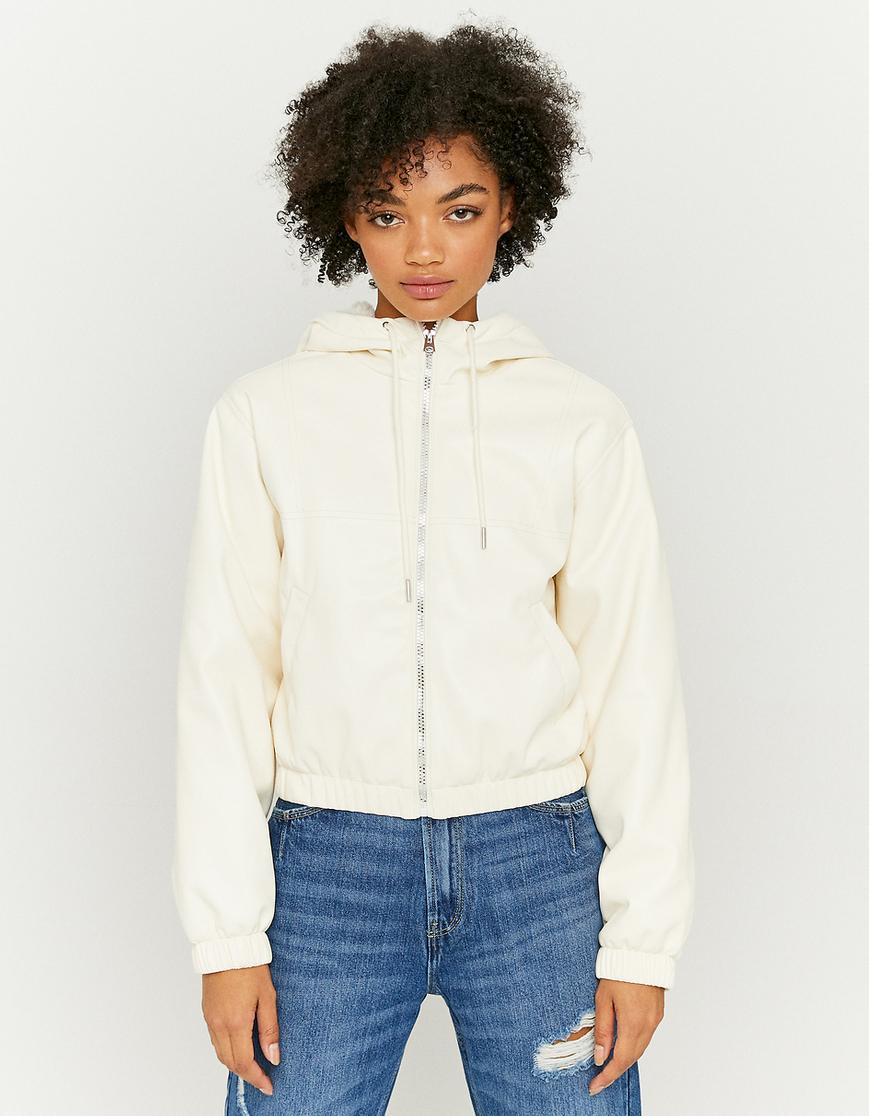 Faux Fur Lined Faux Leather Jacket