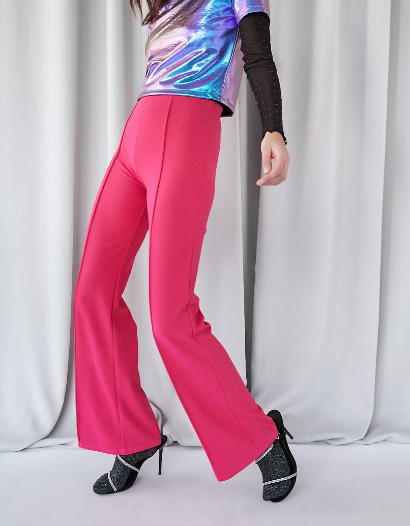 Neonpinke Dressy Flare Leggings