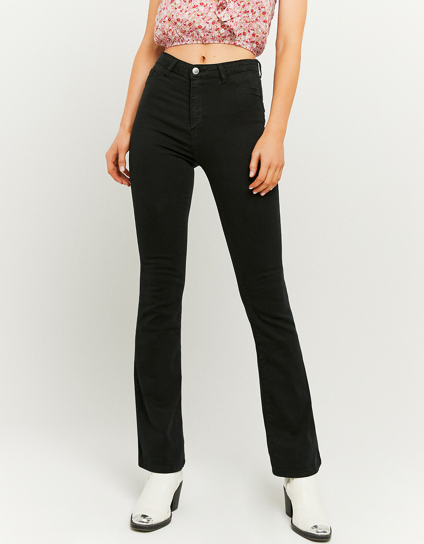Pantalon Skinny Flare Taille Haute