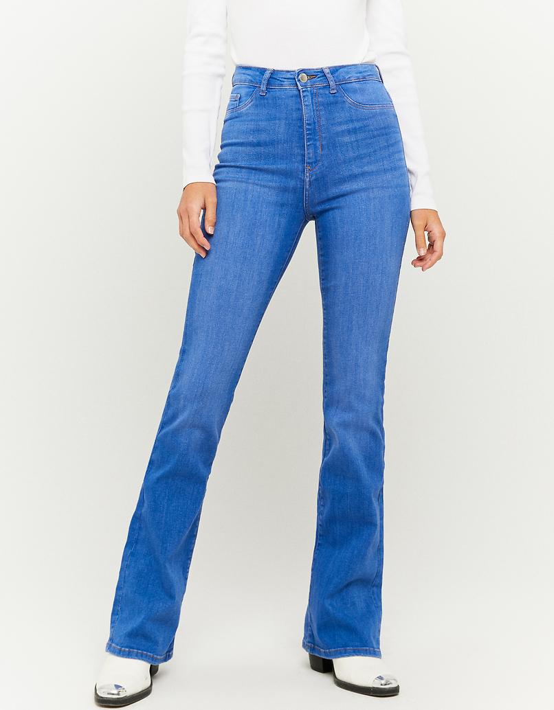 Jean Skinny Évasé Taille Haute