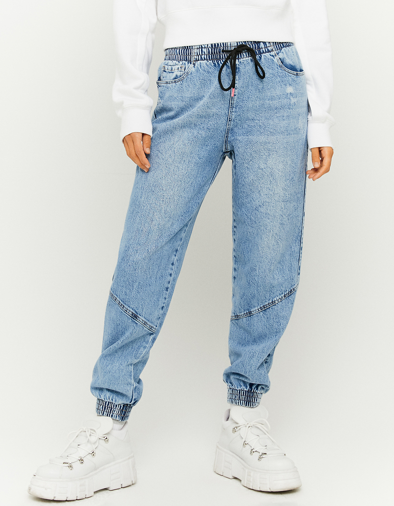 Jeans Jogger Slouchy a Vita Alta