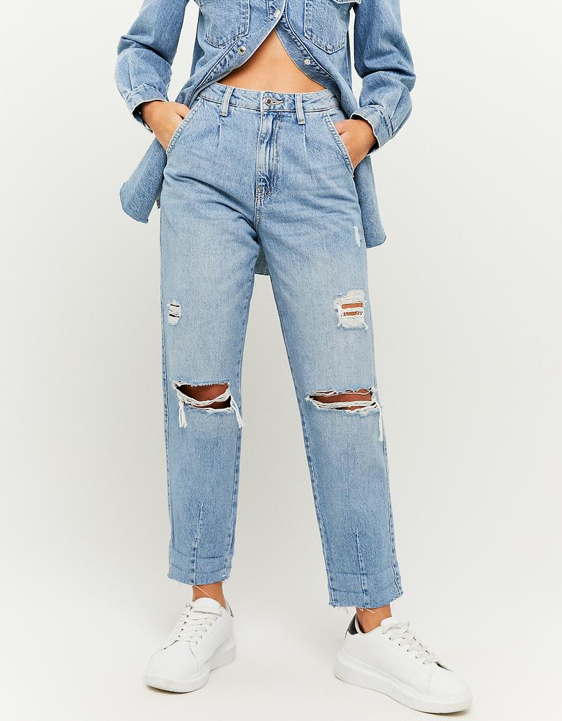 Jeansy z wysokim stanem - Slouchy